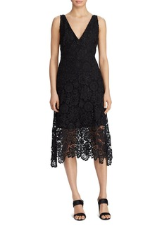Lauren Ralph Lauren V-Neck Lace Dress