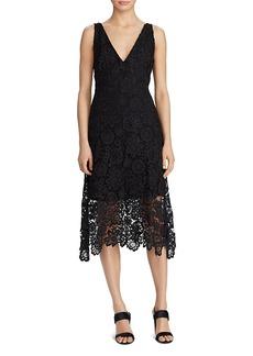 Lauren Ralph Lauren V-Neck Lace Dress