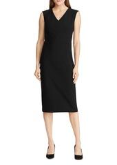 Lauren Ralph Lauren V-Neck Sheath Dress