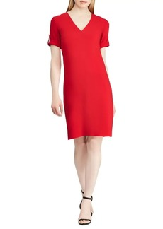 Lauren Ralph Lauren V-Neck Shift Dress