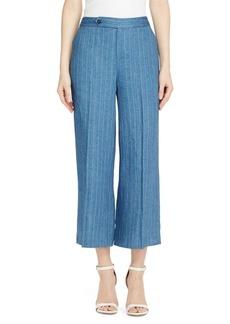 Lauren Ralph Lauren Vasharta High Rise Linen Wide Leg Pants