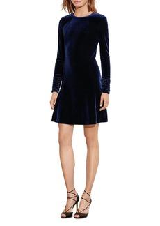 Lauren Ralph Lauren Velvet A-Line Dress