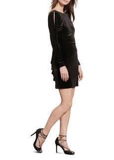 Lauren Ralph Lauren Velvet Back Ruffle Dress - 100% Exclusive