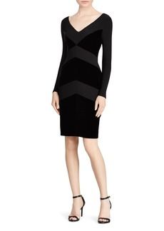 Lauren Ralph Lauren Velvet Chevron Jersey Dress