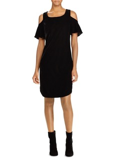 Lauren Ralph Lauren Velvet Cold-Shoulder Dress