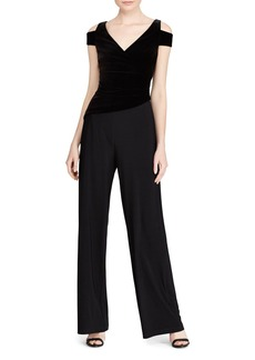 Lauren Ralph Lauren Velvet Cold-Shoulder Jumpsuit - 100% Exclusive