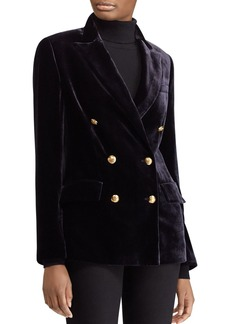 Lauren Ralph Lauren Velvet Double-Breasted Blazer