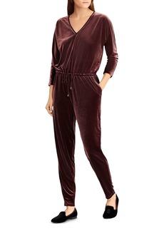 Lauren Ralph Lauren Velvet Drawstring Jumpsuit