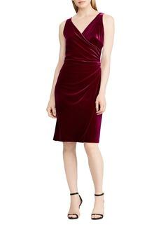 Lauren Ralph Lauren Velvet Faux-Wrap Dress - 100% Exclusive
