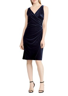 Lauren Ralph Lauren Velvet Faux-Wrap Dress - 100% Exclusive