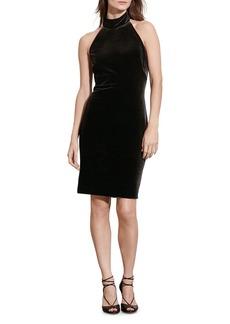 Lauren Ralph Lauren Velvet Halter Dress