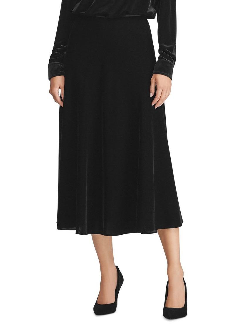 Lauren Ralph Lauren Velvet Midi Skirt