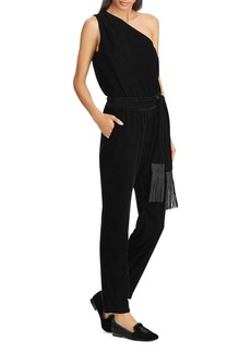 Lauren Ralph Lauren Velvet One-Shoulder Jumpsuit