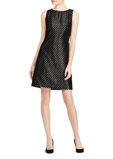 Lauren Ralph Lauren Velvet Polka Dot Lam� Dress