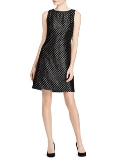 Lauren Ralph Lauren Velvet Polka Dot Lame Dress
