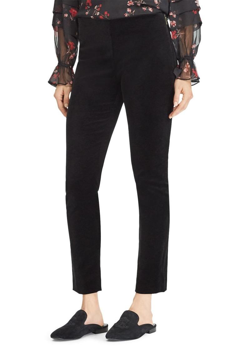 Lauren Ralph Lauren Velvet Skinny Pants