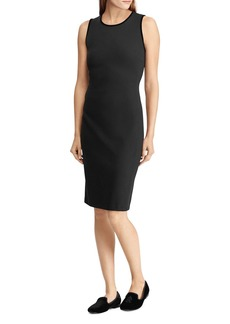 Lauren Ralph Lauren Velvet Trim Sheath Dress