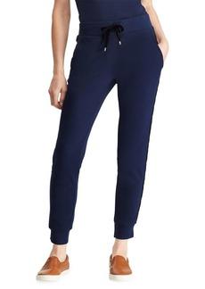 Lauren Ralph Lauren Velvet-Trimmed Cotton Jogger Pants