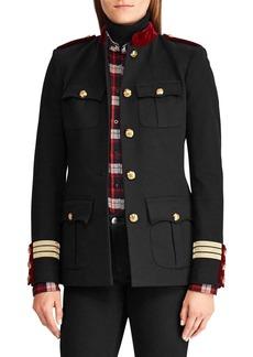 Lauren Ralph Lauren Velvet-Trimmed Mockneck Jacket