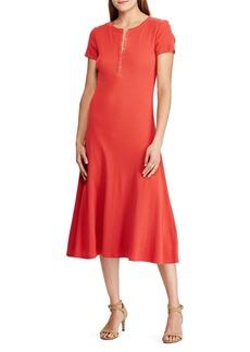 Lauren Ralph Lauren Waffle-Knit Cotton Midi Dress