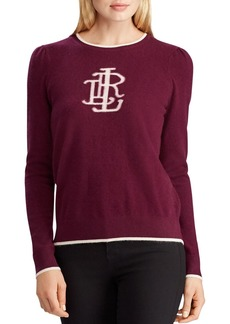 Lauren Ralph Lauren Washable Cashmere Monogram Sweater - 100% Exclusive