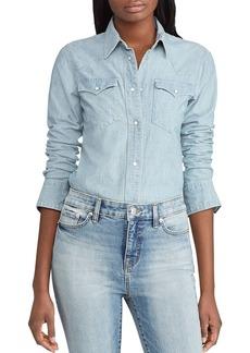 Lauren Ralph Lauren Western-Style Denim Shirt