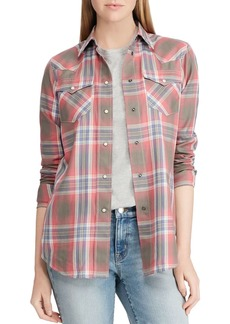 Lauren Ralph Lauren Western-Style Plaid Shirt