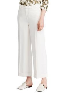 Lauren Ralph Lauren Wide-Leg Twill Pants
