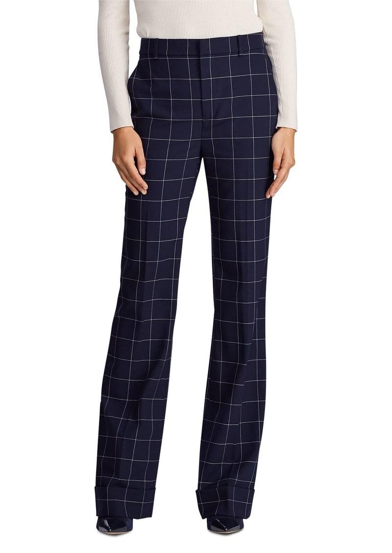 Lauren Ralph Lauren Windowpane Check Wide Leg Pants