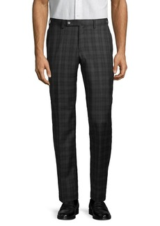 Lauren Ralph Lauren Windowpane Wool-Blend Pants