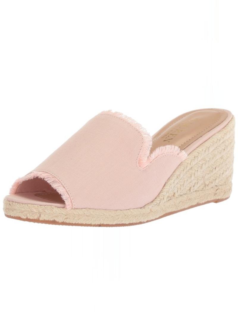 Lauren Ralph Lauren Women's CARLYNDA Espadrille Wedge Sandal   B US