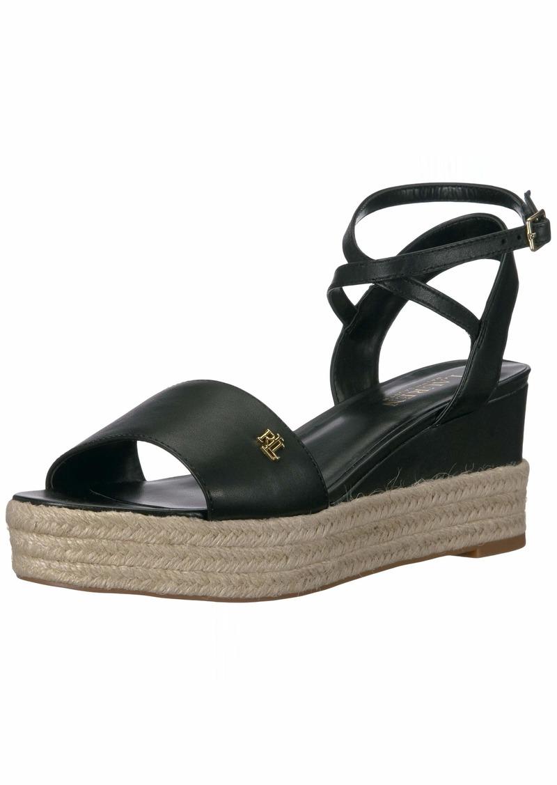 Lauren Ralph Lauren Women's Delores Espadrille Wedge Sandal   B US