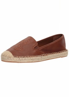 Lauren Ralph Lauren Women's Destini Espadrille Wedge Sandal deep Saddle tan 6 B US