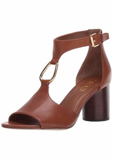 450bec63ad0 Lauren Ralph Lauren Women s ELESIA Heeled Sandal deep Saddle tan 8 ...