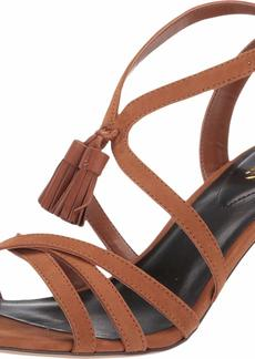 Lauren Ralph Lauren Women's Gwendolyn Heeled Sandal deep Saddle Tan  B US