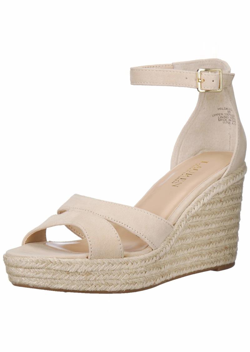 Lauren Ralph Lauren Women's HALDA Espadrille Wedge Sandal   B US