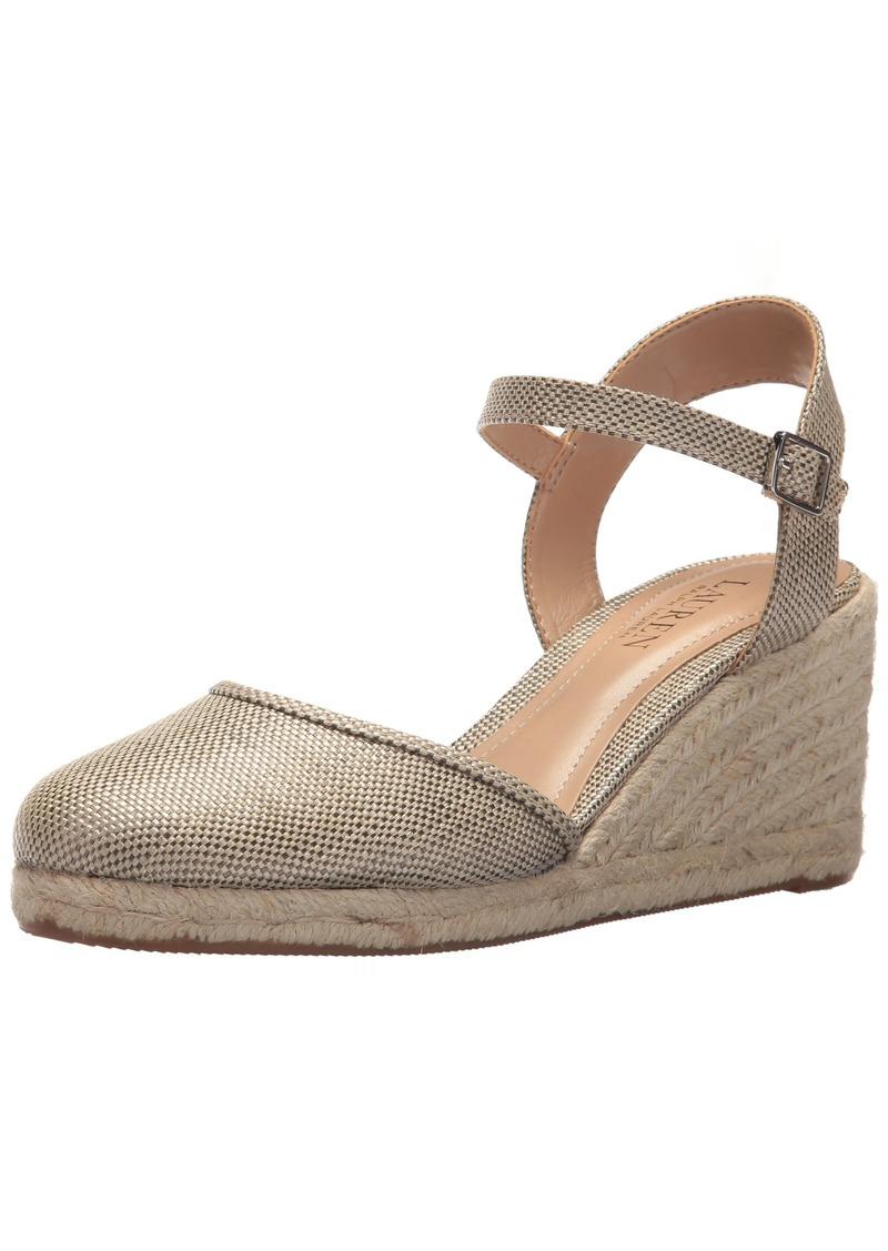Lauren Ralph Lauren Women's Hayleigh II Espadrille Wedge Sandal  9 B US