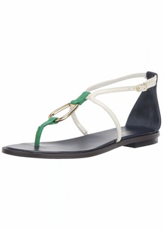 Lauren Ralph Lauren Women's Nanine Sandal DKMIDNIGHT/Vanilla/SPRNGEMERLD  B US
