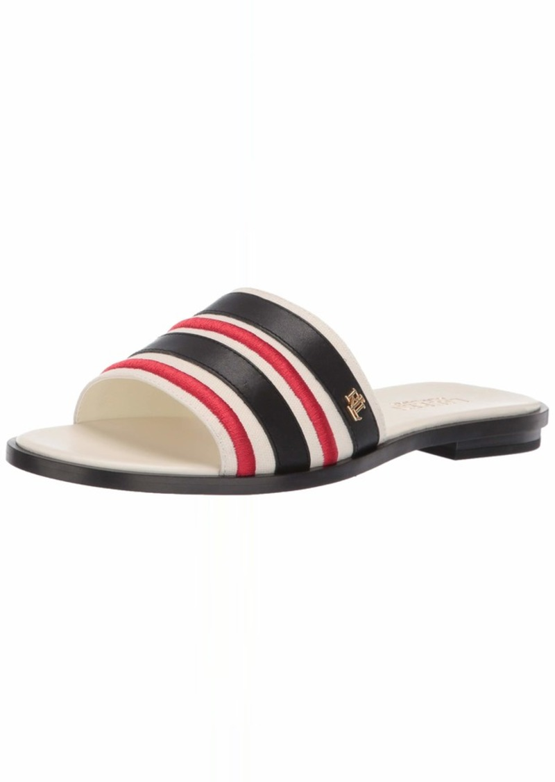 Lauren Ralph Lauren Women's NATANIA Sandal Artist Cream/Black/RL2000RED  B US