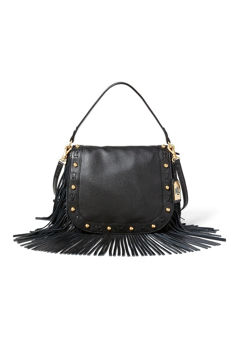 LAUREN RALPH LAUREN Woodbine Layla Crossbody Leather Bag