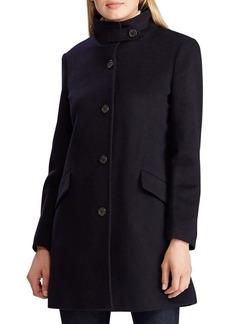 Lauren Ralph Lauren Wool-Blend Mockneck Coat