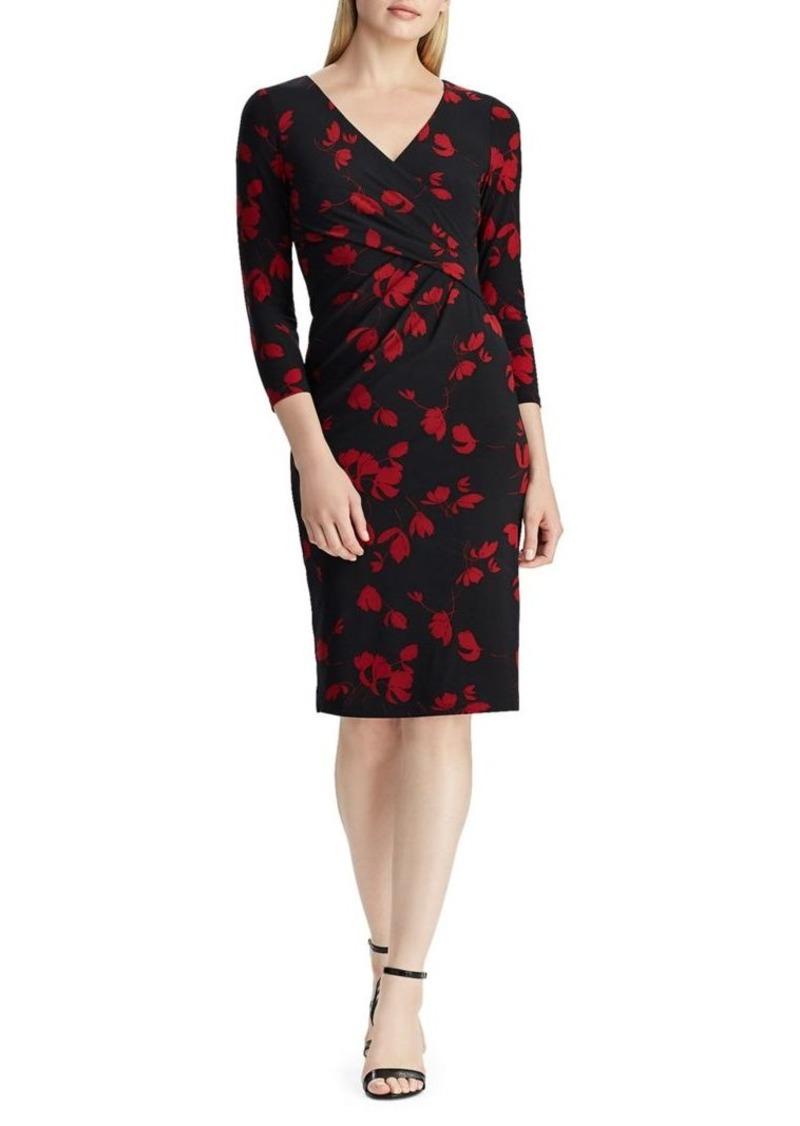 Lauren Ralph Lauren Wrap-Front Jersey Dress