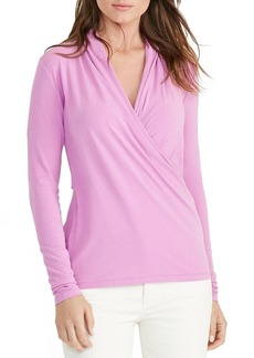 Lauren Ralph Lauren Wrap Jersey Top