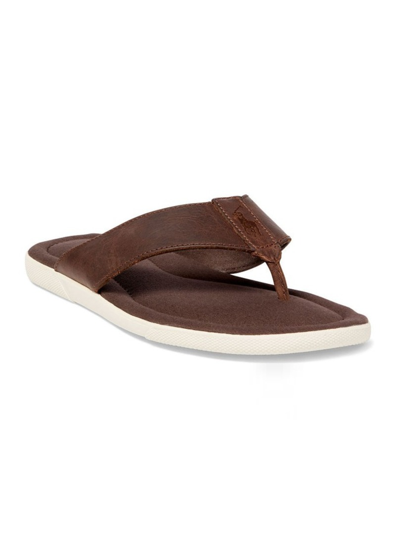 Ralph Lauren Laurence Waxed-Leather Sandal