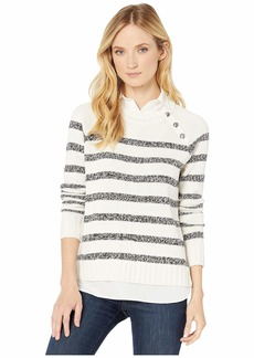 Ralph Lauren Layered Cotton-Blend Sweater