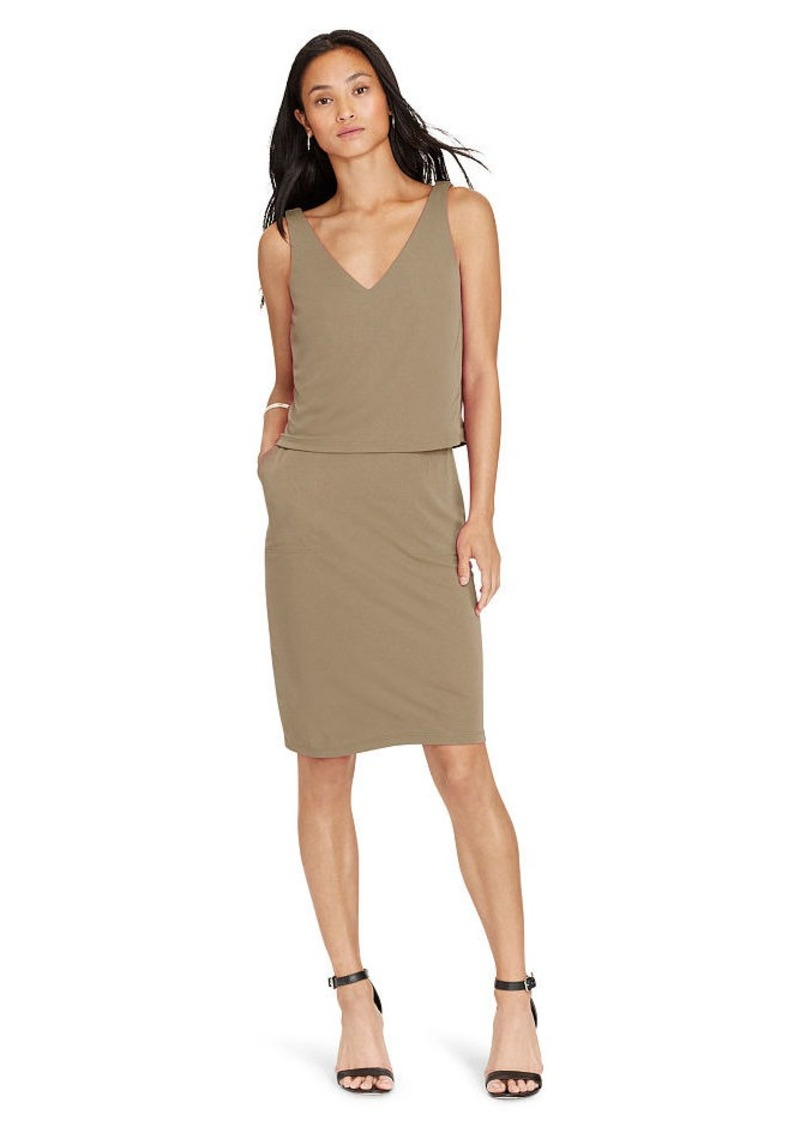 Ralph Lauren Layered Jersey V-Back Dress