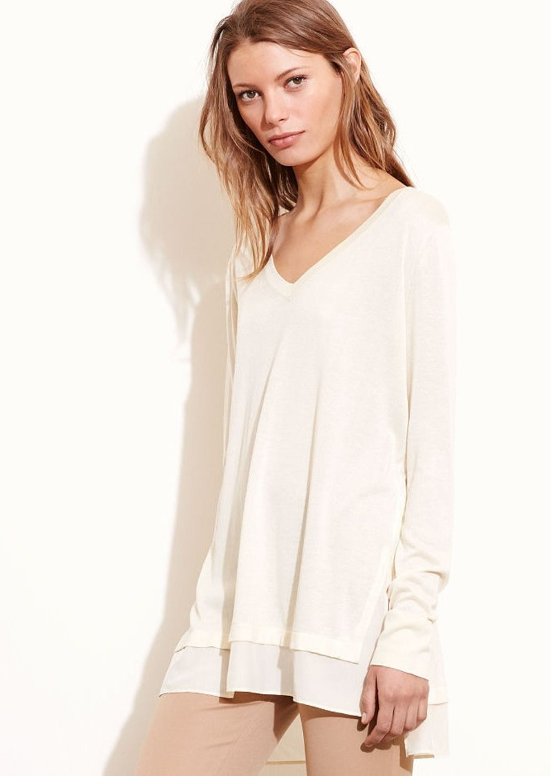Ralph Lauren Layered Silk-Blend Sweater