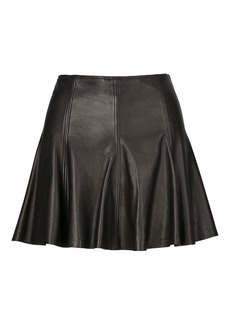 Ralph Lauren Leather A-Line Miniskirt