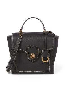 Ralph Lauren Leather Crossbody Satchel Bag