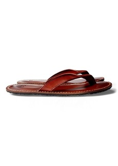 Ralph Lauren Leather Flip-Flop Sandal